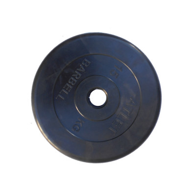 Диск обрезиненный, 51 мм, 15кг Atlet фотография товара