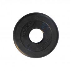 Диск обрезиненный, 51 мм, 2,5кг Atlet