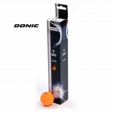 Мячи для тенниса DONIC 1T-TRAINING, 6 шт, оранжевые