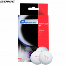 Мячики для н/тенниса DONIC AVANTGARDE 3, 6 шт, белые