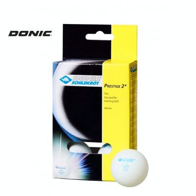 Мячи для настольного тенниса DONIC PRESTIGE 2 белые 6 шт фотография товара