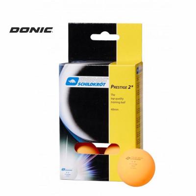 Мячи для настольного тенниса DONIC PRESTIGE 2 оранжевые 6 шт фотография товара