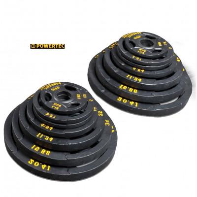 Набор олимпийских дисков Powertec 51мм 115,68кг фотография товара