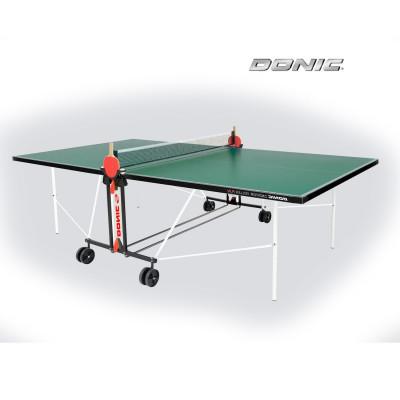 Теннисный стол DONIC INDOOR ROLLER FUN GREEN 19мм фотография товара