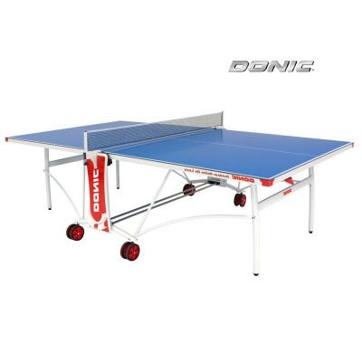 Теннисный стол DONIC OUTDOOR ROLLER DE LUXE синий фотография товара