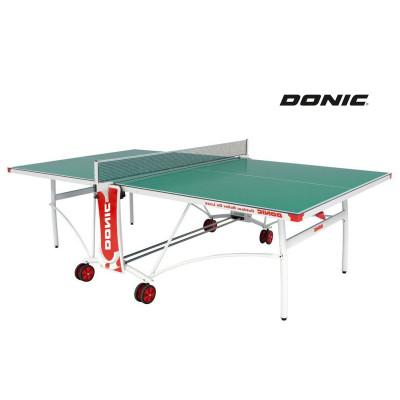 Теннисный стол DONIC OUTDOOR ROLLER DE LUXE зеленый фотография товара