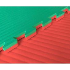 Будо-маты EVA 25 мм рисовая соломка (джудо), красно-зелёный фотография товара