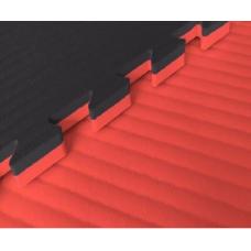 Будо-маты EVA 25 мм рисовая соломка (джудо), красно-чёрный фотография товара