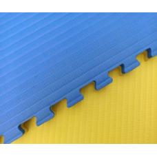 Будо-маты EVA 25 мм рисовая соломка (джудо), желто-синий фотография товара