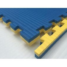 Будо-маты EVA 40 мм рисовая соломка (джудо), желто-синий фотография товара