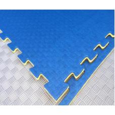 Будо-маты EVA 20 мм циновка, жёлто-синий фотография товара