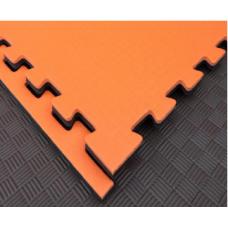 Будо-маты EVA 20 мм циновка, оранжево-чёрный фотография товара