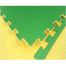 Будо-маты EVA 20 мм циновка, зелёно-жёлтый фотография товара