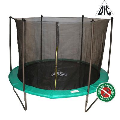 Батут DFC JUMP 244 см складной, c сеткой, цвет green фотография товара
