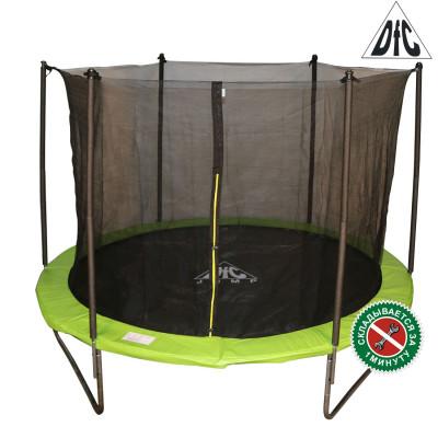 Батут DFC JUMP 305 см складной, c сеткой, цвет apple green фотография товара