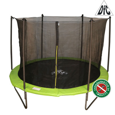 Батут DFC JUMP 244 см складной, c сеткой, цвет apple green фотография товара