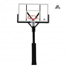 Баскетбольная стационарная стойка ING72G 180*105см