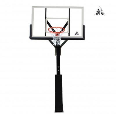 Баскетбольная стационарная стойка ING72G 180*105см фотография товара