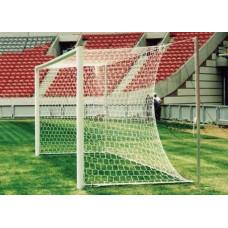 Ворота футбольные алюминиевые d100 разборные 7,32х2,44м (подъемная рама, две стойки со стаканами) фотография товара