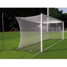 Ворота футбольные алюминиевые d100 разборные 7,32х2,44м (с стаканами)
