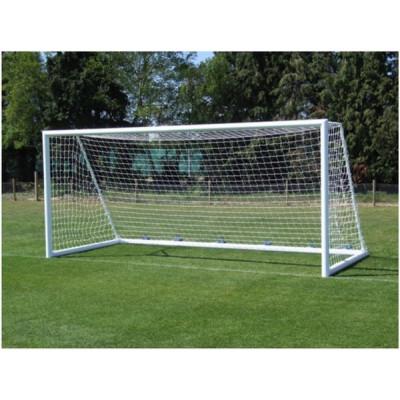 Ворота футбольные алюминиевые d100 разборные 7,32х2,44м фотография товара